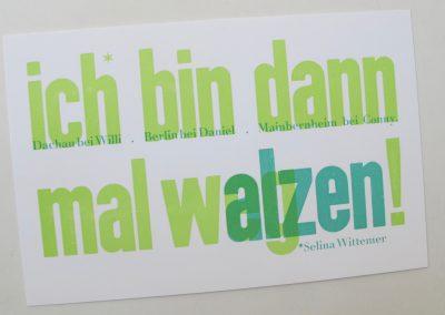 Walz für Handsatz und Buchdruck 2020 — Bewerbungsfrist 10. Oktober 2019