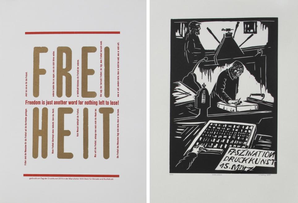»Tag der Druckkunst 2019« Druckkunstmappe gegen Spende abzugeben
